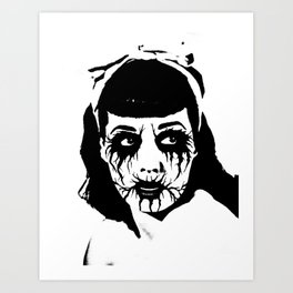 Corpsepaint Bettie Art Print