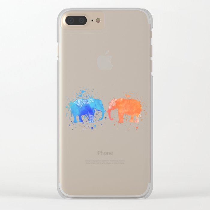 love elephants Clear iPhone Case