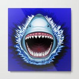 Shark Jaws Attack Metal Print