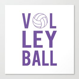 Volleyball (lavendar) Canvas Print