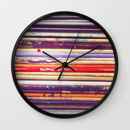 Grandpa's Records Wall Clock