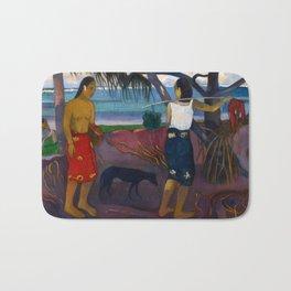 Under the Pandanus II by Paul Gauguin Bath Mat