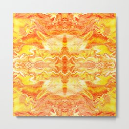 Realistic premium yellow colours marble luxury design for home decoration Metal Print