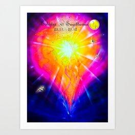 Zodiac sign Sagittarius Art Print