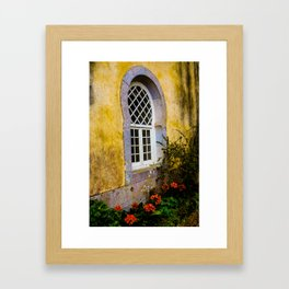 Castillo Ventana Framed Art Print