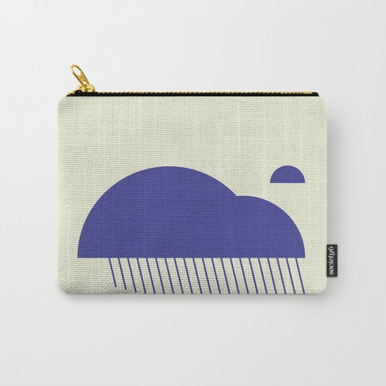 Minimal Clouds Rain Carry-All Pouch