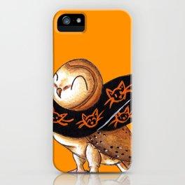 Happy Owl-o-Ween (Barn Owl) iPhone Case