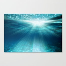 Light Rays Underwater Canvas Print