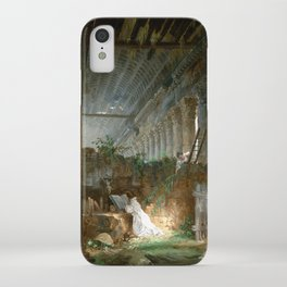 Hubert Robert A Hermit Praying in the Ruins of a Roman Temple iPhone Case