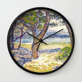 Théo van Rysselberghe - The Mediterranean at Le Lavandou (new color edit) Wall Clock