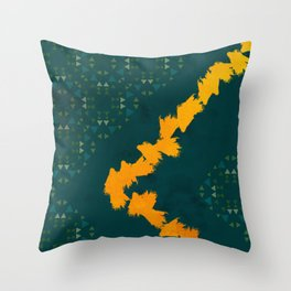 Forest yellow brick road #society6 Throw Pillow