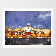 Grillhütte Art Print