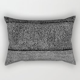 The Rosetta Stone // Black Rectangular Pillow