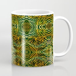Tiger in a Circle African Dye Resist Fabric Adire Boho Chic Coffee Mug