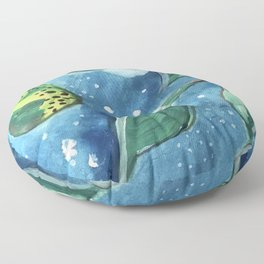 Pear Tree Under The Stars Floor Pillow