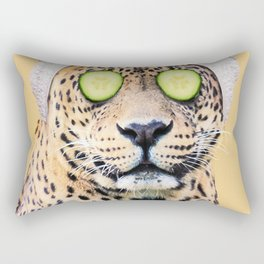 Leopard in a Towel Rectangular Pillow