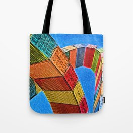 A Rainbow Of Shipping Containers Tote Bag