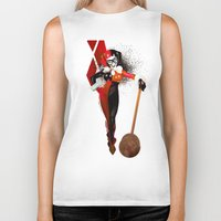 harley quinn Biker Tanks featuring Harley Quinn by nachodraws