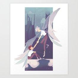 NGE - kaworu Nagisa and Shinji Ikari Art Print