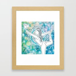 dancer mandalalalala Framed Art Print