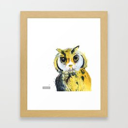 Inky Owl Framed Art Print