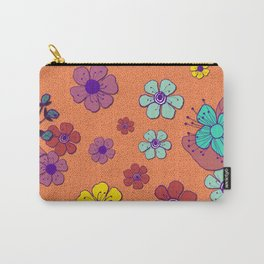 Sweet Amber Flower Carry-All Pouch