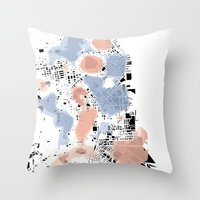 san francisco map Throw Pillows featuring San Francisco Crime Map by ARTITECTURE