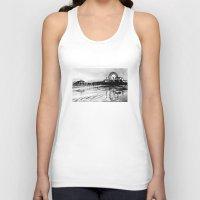santa monica Tank Tops featuring Los Angeles Santa Monica Pier by VICIT
