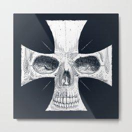 skull and cross Metal Print