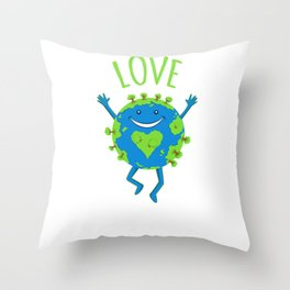 Love Your Mother - Earth Day Throw Pillow