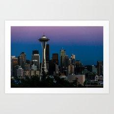 Seattle Blue Hour Art Print