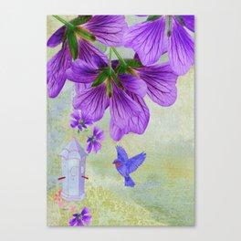 Purple Cranesbill Canvas Print
