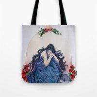 scorpio Tote Bags featuring Scorpio by BlindEyeArtist