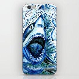 Hungry Shark Drawing iPhone Skin