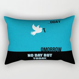 Lab No.4 -No Day But Today Business Quotes poster Rectangular Pillow