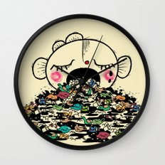 Save the fishes Wall Clock