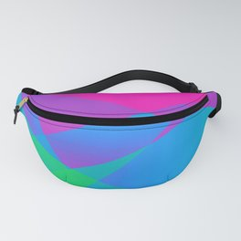 Polysexual Pride Layered Translucent Angles Fanny Pack
