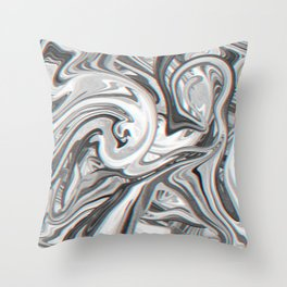 Marble Glitch Pattern Throw Pillow