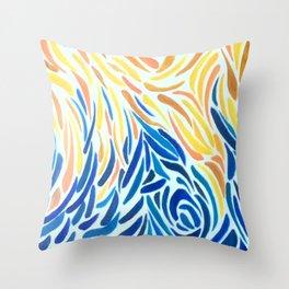 Waltz Between Water & Fire Throw Pillow