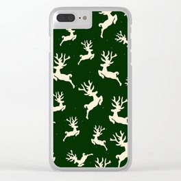 Christmas Deer Background III Clear iPhone Case