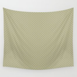 Mellow Purple on Earthy Green Parable to 2020 Color of the Year Back to Nature Angled Grid Pattern Wall Tapestry
