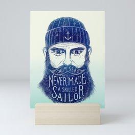 CALM SEAS NEVER MADE A SKILLED (Blue) Mini Art Print