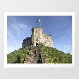 Cardiff Castle Keep-Wales UK Art Print