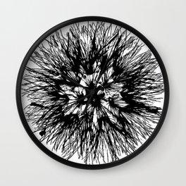 Make A Wish Dandelion Vector In Black Wall Clock