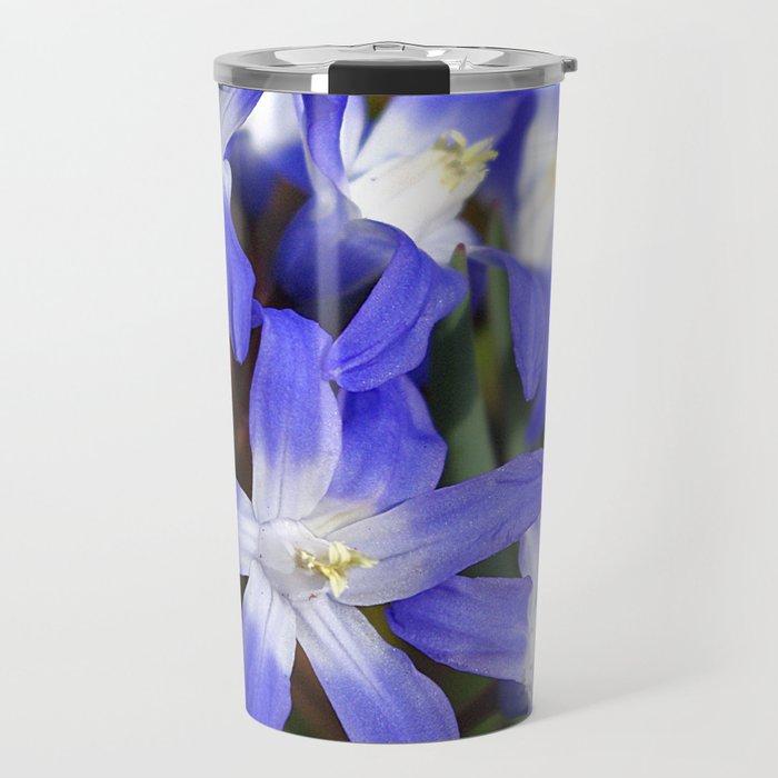 Early Spring Blue - Chionodoxa Travel Mug