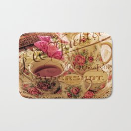 Teacup and Roses 3 Bath Mat