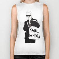 karl Biker Tanks featuring Karl by Les Gutiérrez