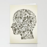 medicine Stationery Cards featuring Head medicine by aleksander1