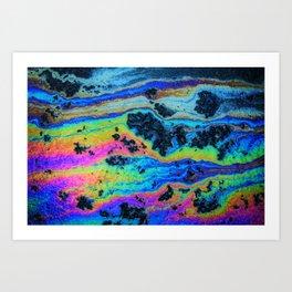 Oil On Pavement: Mind Trip Art Print