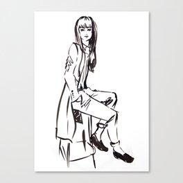 'Coat' Fashion Illustration Canvas Print